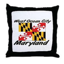 West Ocean City Maryland Throw Pillow