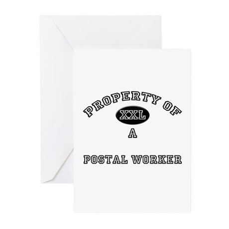 Property of a Postal Worker Greeting Cards (Pk of