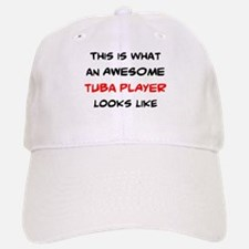 awesome tuba player Baseball Baseball Cap