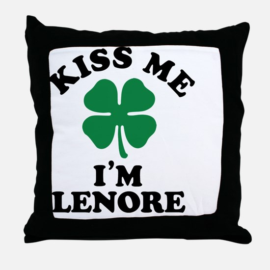 Funny Lenore Throw Pillow