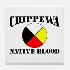 Chippewa Native Blood Tile Coaster