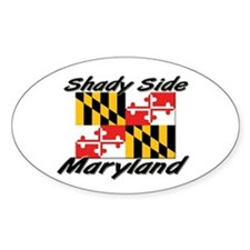 Shady Side Maryland Oval Decal
