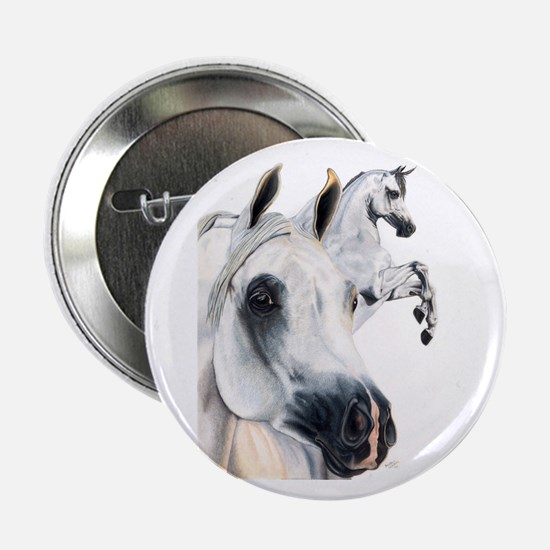 Grey Arabian Horse Button