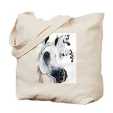 Grey Arabian Tote Bag