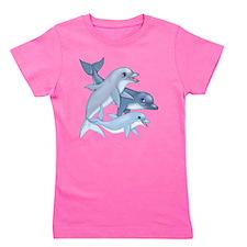 Cute Dolphins Girl's Tee