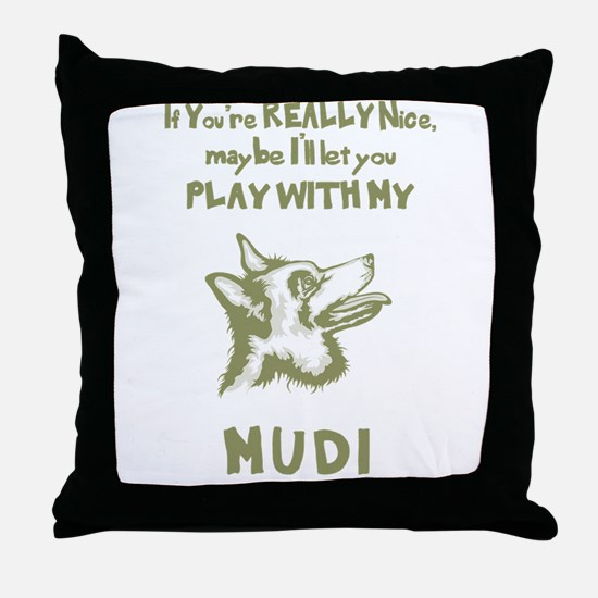 Mudi Throw Pillow