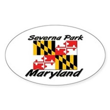 Severna Park Maryland Oval Decal