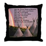 Cherokee Blessing Prayer Throw Pillow
