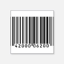"Cute Bar code Square Sticker 3"" x 3"""