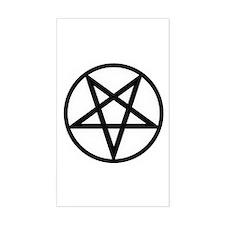 Pentagram Rectangle Decal