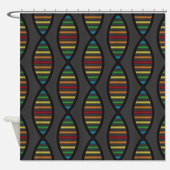 Unique Genetics Shower Curtain