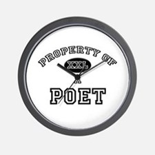 Property of a Poet Wall Clock