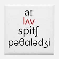 I Love Speech Pathology Phonetics 2 Tile Coaster