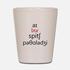 I Love Speech Pathology Phonetics 2 Shot Glass