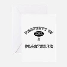 Property of a Plasterer Greeting Cards (Pk of 10)