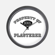 Property of a Plasterer Wall Clock