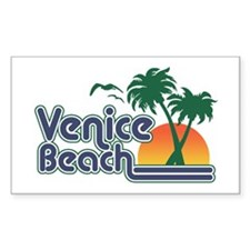 Venice Beach Rectangle Decal