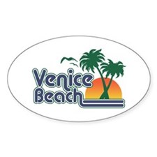 Venice Beach Oval Decal