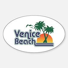 Venice Beach Oval Decal