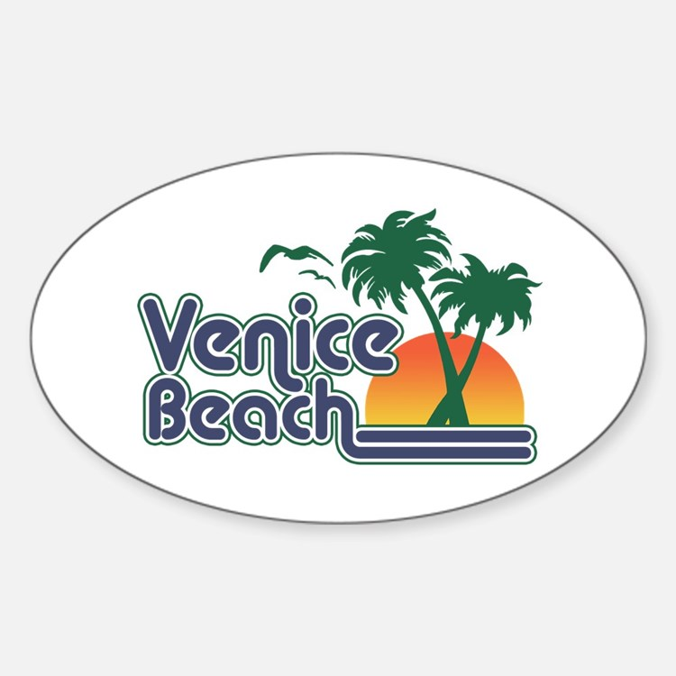 Venice Beach Sticker (Oval)