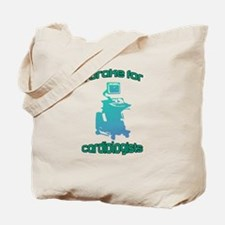 I brake for cardiologists Blue Aqua Tote Bag