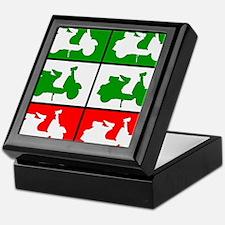 Italian Scooter Graphic Keepsake Box
