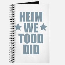 Heim We Todd Did Journal