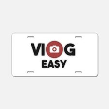 Cute Vlog Aluminum License Plate