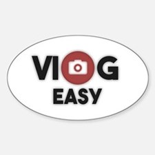 Cute Vlogging Sticker (Oval)