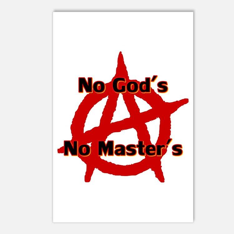 Anarchy No Gods No Maste Postcards (package Of 8)