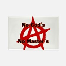 Anarchy No Gods Masters Rectangle Magnet Magnets