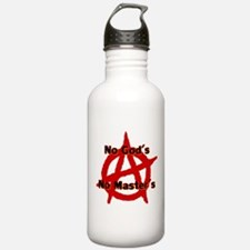 ANARCHY NO GODS NO MA Water Bottle