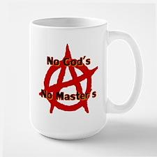 ANARCHY NO GODS NO MASTERS Mug