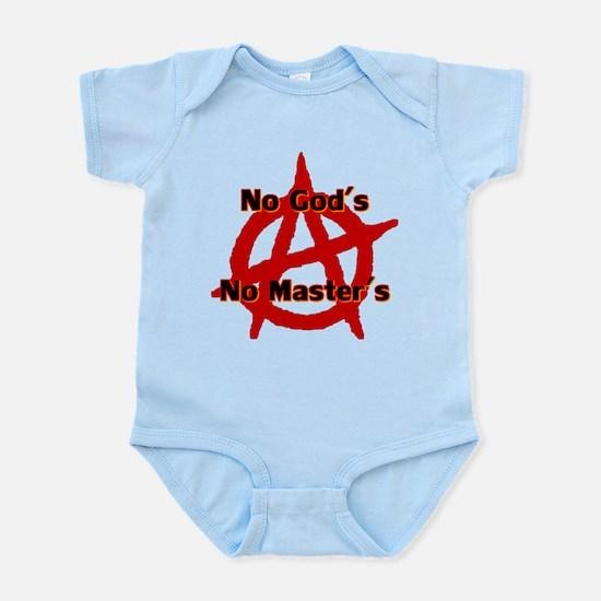 ANARCHY NO GODS NO MASTERS Infant Bodysuit