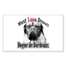 Dogue MustLove Rectangle Decal