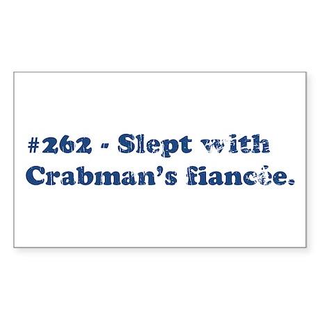 Crabman's Fiancee Rectangle Sticker