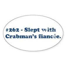 Crabman's Fiancee Oval Decal