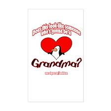 TOO YOUNG GRANDMA Rectangle Decal