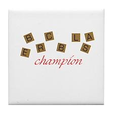 Scrabble Champion Tile Coaster