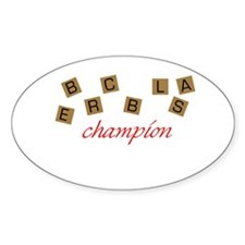 Scrabble Champion Oval Decal