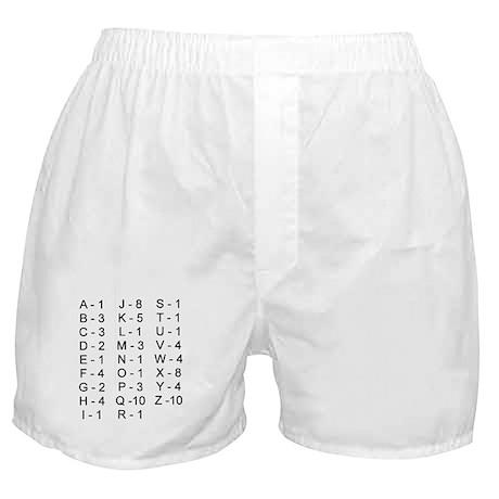 Scrabble Tile Points Boxer Shorts