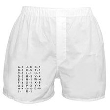 Scrabble Tile Points Boxer Shorts