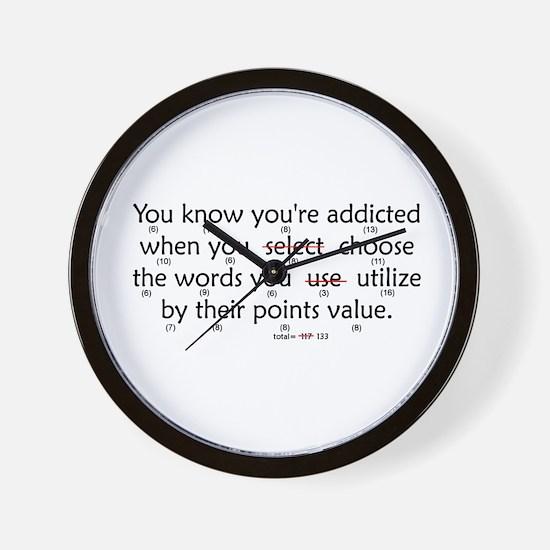 Scrabble Points Wall Clock