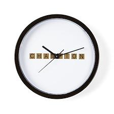 Tiled Champion Wall Clock