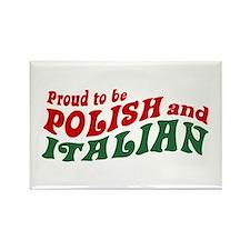 Proud Polish Italian Rectangle Magnet
