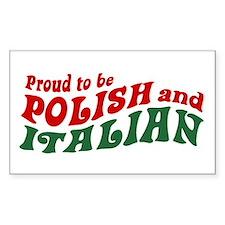 Proud Polish Italian Rectangle Decal
