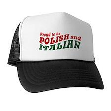 Proud Polish Italian Trucker Hat
