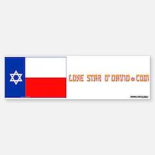 LONE STAR O'DAVID.... Bumper Bumper Bumper Sticker