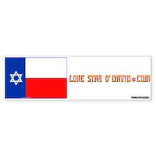 LONE STAR O'DAVID.... Bumper Bumper Sticker