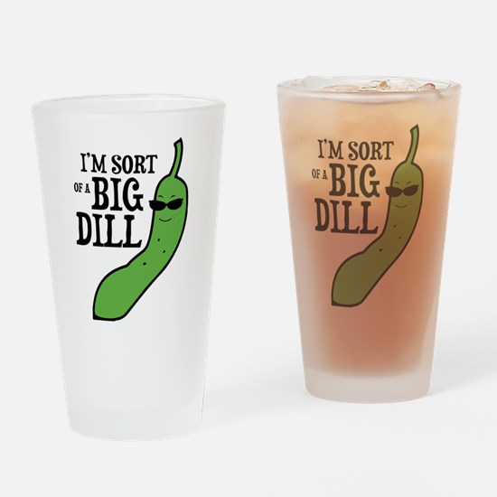 Big Dill Pickle Drinking Glass